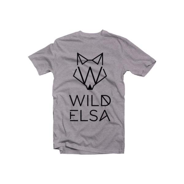 T-Shirt wildelsa grigia stampa nera