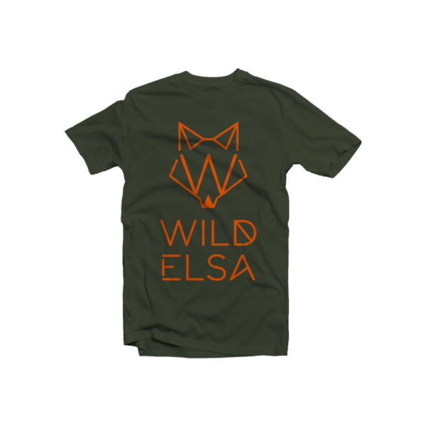 T-Shirt wildelsa military stampa arancio